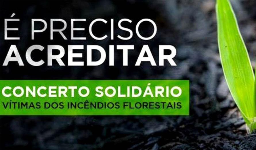 Concerto solidário angaria 100 mil euros para as vítimas dos incêndios